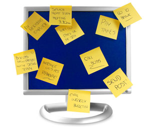 Sticky Notes on Monitor
