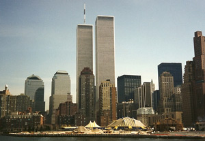 The Twin Towers of the World Trade Center prior to 9-11