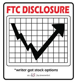 FTC Disclosure: Writer Got Stock Options