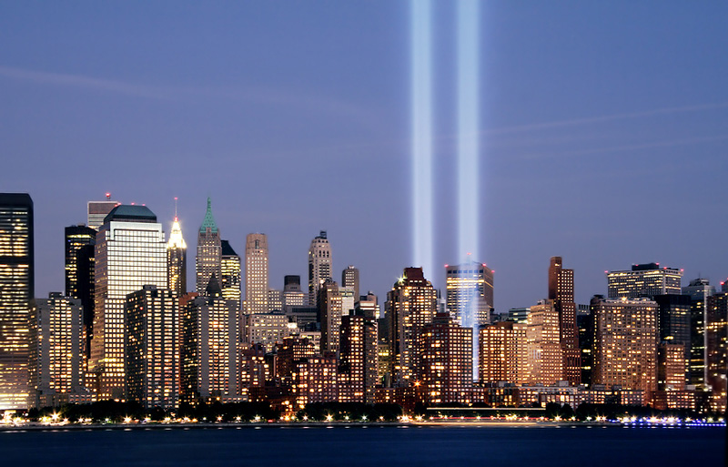 9-11 Tribute in Light Copyright June Marie / Caity via BigStockPhoto.com