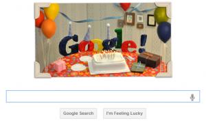 Google 13th Birthday Doodle