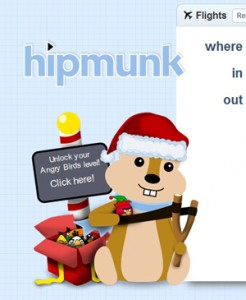 Hipmunk: Unlock Your Angry Birds Level