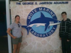 Spencer with Gina Santoianni, coordinator of Mote Marine High School Internship Program