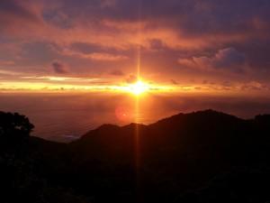 Costa Rica: Sunset at Villa Caletas (Orange)