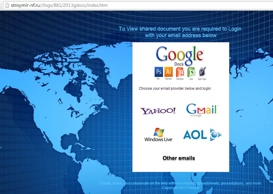Google Account Phishing Site