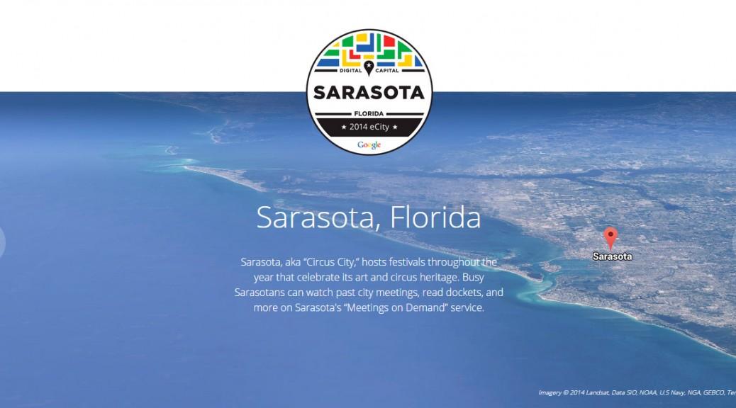 Screenshot: Google Recognizes Sarasota as its 2014 eCity for Florida