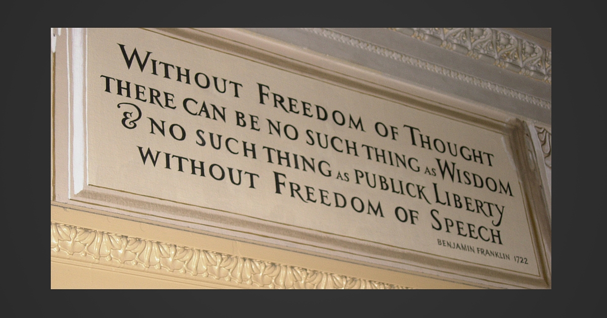 Freedom of Thought Ben Franklin - by k_donovan11 - Congressional Quote. Licensed under CC BY 2.0